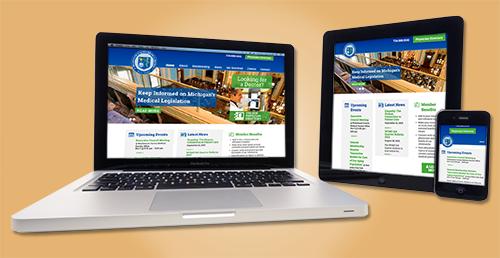 washtenaw County Medical Society website design WCMS