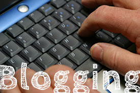 Blogging - writing on the computer